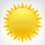 Vecteur de clipart (images graphiques) du soleil de flambage d'isolement Image libre de droits