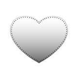 Vecteur de coeur de fer illustration stock
