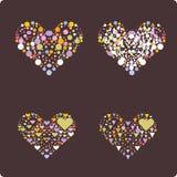 vecteur de coeurs de coeur Photo libre de droits