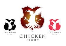 Vecteur de combat de symbole de poulet Images libres de droits