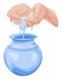 Vecteur de concept de l'eau d'économies illustration libre de droits