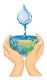 Vecteur de concept de l'eau d'économies illustration de vecteur