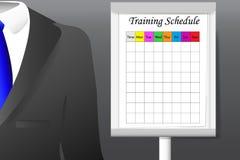 Vecteur de concept de programme de formation Images stock