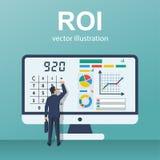 Vecteur de concept de ROI illustration libre de droits