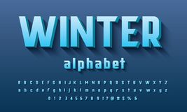 Vecteur de conception audacieuse moderne de l'alphabet 3D illustration de vecteur