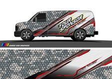 Vecteur de conception de décalque de voiture fond abstrait pour l'enveloppe de vinyle de véhicule illustration de vecteur
