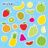 Vecteur de conception d'emballage cadeau de bande dessinée de Juice Drink Cute de fruit Photos stock