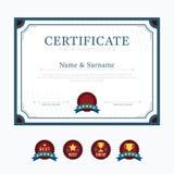 Vecteur de conception de cadre de fond de disposition de calibre de certificat mode illustration de vecteur