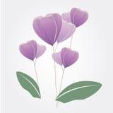 Vecteur de conception de fleur images stock