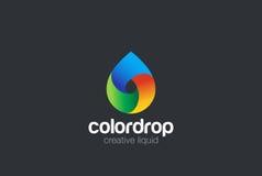 Vecteur de conception de logo de baisse de l'eau Logo liquide de gouttelette Photo libre de droits