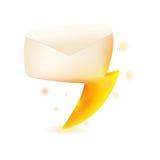 Vecteur de conception de symbole d'étincelle de tonnerre de courrier Photo libre de droits