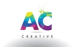 Vecteur de conception de triangles d'origami à C.A.A.C. Colorful Letter Photographie stock libre de droits