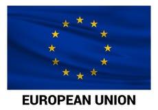 Vecteur de conception de drapeau d'Union européenne illustration libre de droits