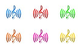 Vecteur de conception de logo de connexions de musique illustration de vecteur