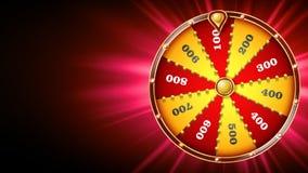 Vecteur de conception de roue de fortune Jeu de hasard de casino Signe de chance Brochure de conception de loterie Illustration r illustration stock