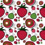 Vecteur de configuration de fraise Photo stock