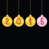 Vecteur de couleur de boules de la nouvelle année 2015 illustration libre de droits
