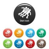 Vecteur de couleur réglé par icônes courtes de voie Photo stock