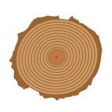 Vecteur de coupe d'arbre Image stock