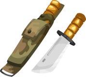 Vecteur de couteau d'armée Photo libre de droits
