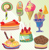 Vecteur de crème glacée  Illustration Stock