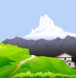 Vecteur de crêtes de l'Himalaya et de la neige Photo libre de droits