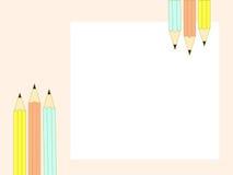 Vecteur de crayon Photo stock