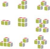Vecteur de cube pour des affaires de construction Image libre de droits