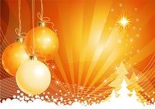 vecteur de décorations de Noël de fond Images libres de droits