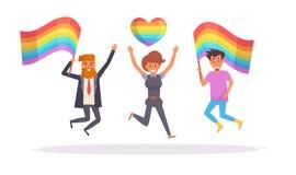 Vecteur de défilé de LGBT cartoon Art d'isolement illustration de vecteur