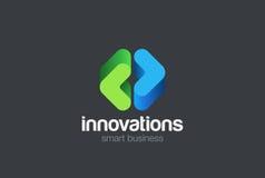 Vecteur de design d'entreprise d'abrégé sur logo de parenthèses illustration libre de droits