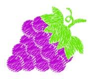 Vecteur de dessin de peinture de raisins illustration stock