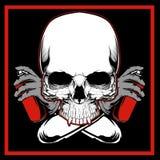 Vecteur de dessin de main de graffiti de peinture de crâne de vecteur photos stock