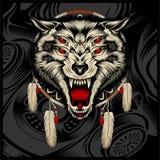 Vecteur de dessin de main de loup illustration de vecteur