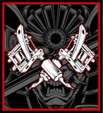 Vecteur de dessin de main de tatouage de machine illustration libre de droits