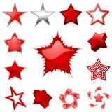 Vecteur de dessins d'étoile Images stock