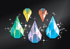 Vecteur de diamant Photos libres de droits