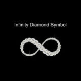 Vecteur de Diamond Symbol d'infini Image stock