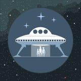 Vecteur de Digital avec l'étranger venant d'un vaisseau spatial illustration de vecteur