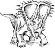 Vecteur de dinosaure de Triceratops de croquis Photo stock