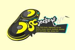 Vecteur de DJs Discjockeys Photographie stock