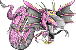 Vecteur de dragon de cyborg de robot Photos libres de droits