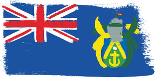 Vecteur de drapeau d'îles de Pitcairn peint à la main avec la brosse arrondie Image libre de droits