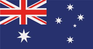 Vecteur de drapeau d'Australie illustration de vecteur