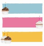 Vecteur de drapeau de joyeux anniversaire Photos stock