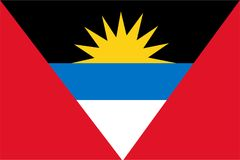 Vecteur de drapeau de l'Antigua et du Barbuda Illustration de l'Antigua et du Barbuda Illustration de Vecteur