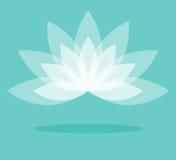 Vecteur de fleur de lotus blanc sur le fond de lumière de couleur Image libre de droits