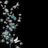 Vecteur de fleur et d'insectes Images libres de droits