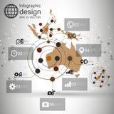Vecteur de fond de carte d'Australie, infographic illustration de vecteur