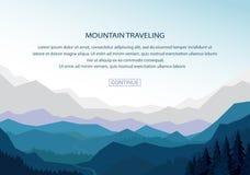 Vecteur de fond de montagne Images stock
